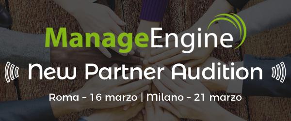 ManageEngine New Partner Audition