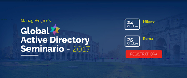 ManageEngine Global Active Directory Seminario 2017