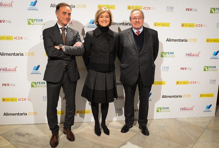 José Antonio Valls, Isabel García Tejerina y Josep Lluís Bonet