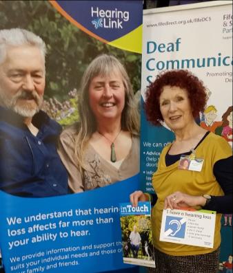 Scotland volunteer Ann Thallon at Dunfermline technology show