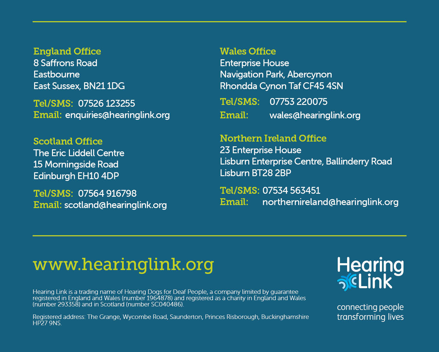 Contact Hearing Link - UK Offices