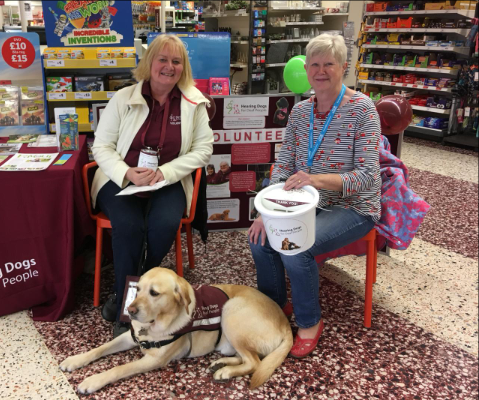 May (pictured right) with fellow Hearing Dogs volunteer Mary