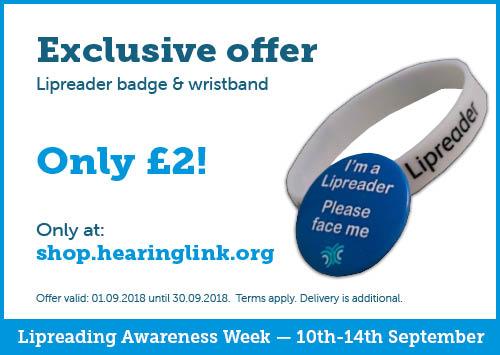 Lipreading badge & wristband £2