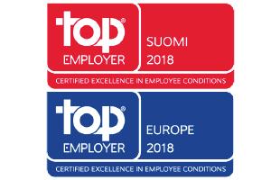 Olemme Top Employer -sertifioitu yritys!