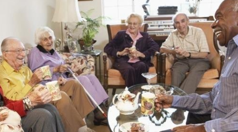 Image of senior citizens in a room