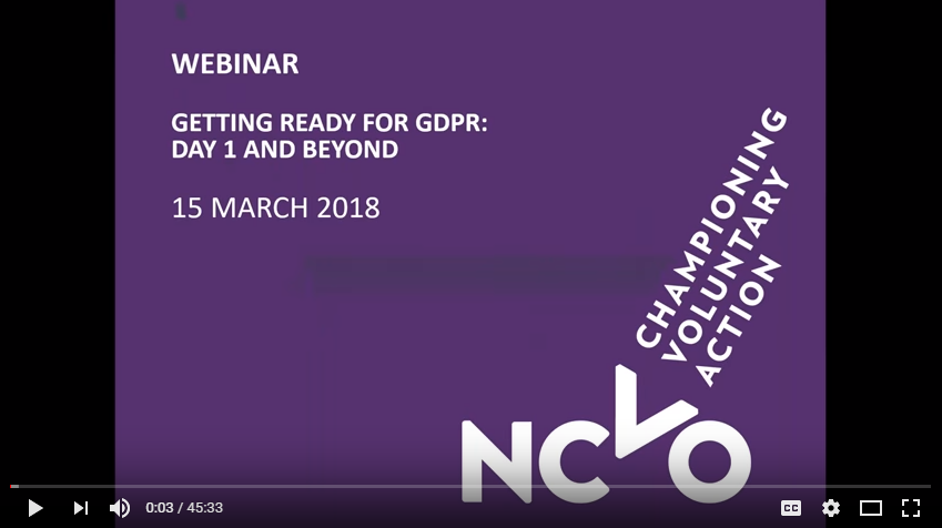Video still from GDPR webinar